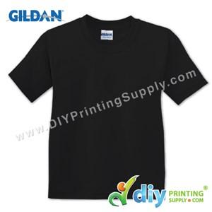 Gildan Cotton Tee (Round Neck) (Black) (XXL) (180Gsm)