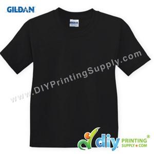 Gildan Cotton Tee (Round Neck) (Black) (XXXL) (180Gsm)