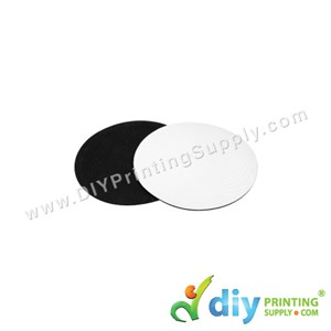 Coaster (Fabric With Rubber Base) (Round) (4 Pcs/Pkt) (3mm) (10 X 10cm)