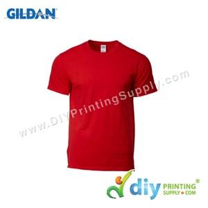 Gildan Cotton Tee (Round Neck) (Red) (XS) (180Gsm)