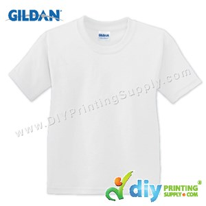 Gildan Cotton Tee (Round Neck) (White) (L) (180Gsm)