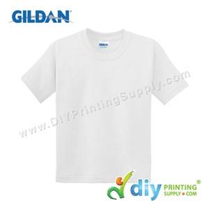 Gildan Cotton Tee (Round Neck) (White) (XS) (180Gsm)