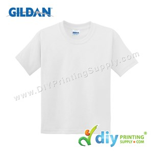 Gildan Cotton Tee (Round Neck) (White) (XS) (180Gsm)