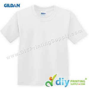 Gildan Cotton Tee (Round Neck) (White) (XXXL) (180Gsm)