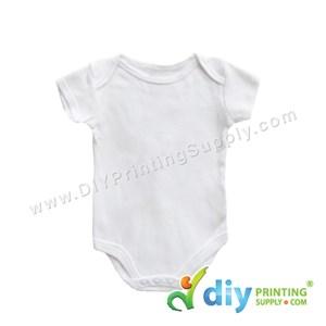 Subli-Cotton Tee (Round Neck) (Baby Romper) (White) (M) (9-12 Months) (Short Sleeve)