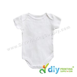 Subli-Cotton Tee (Round Neck) (Baby Romper) (White) (M) (9-12 Months) (Short Sleeve)