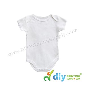 Subli-Cotton Tee (Round Neck) (Baby Romper) (White) (S) (6-9 Months) (Short Sleeve)