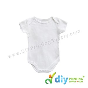 Subli-Cotton Tee (Round Neck) (Baby Romper) (White) (XS) (3-6 Months) (Short Sleeve)