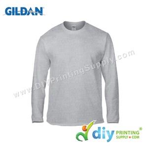 Gildan Cotton Tee (Round Neck) (Grey) (M) (180Gsm) (Long Sleeve)