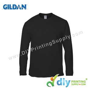 Gildan Cotton Tee (Round Neck) (Black) (M) (180Gsm) (Long Sleeve)