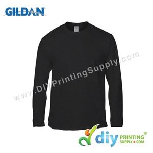 Gildan Cotton Tee (Round Neck) (Black) (M) (180Gsm) (Long Sleeve)