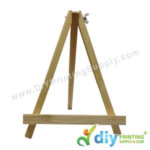 Ceramic Tile Stand (Triangle) (Wooden) (Brown) (18.3 X 24cm)