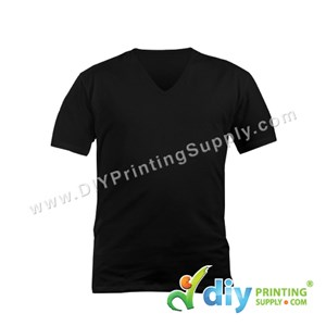 Cotton Tee (V-Neck) (Black) (L)