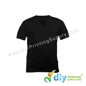 Cotton Tee (V-Neck) (Black) (S)
