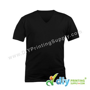 Cotton Tee (V-Neck) (Black) (XL)