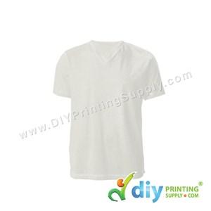 Cotton Tee (V-Neck) (White) (S)