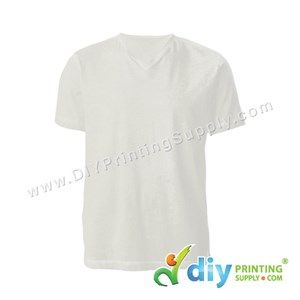 Cotton Tee (V-Neck) (White) (XL)
