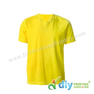Cotton Tee (V-Neck) (Yellow) (L)