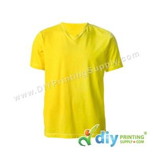 Cotton Tee (V-Neck) (Yellow) (L)