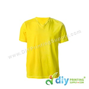 Cotton Tee (V-Neck) (Yellow) (M)