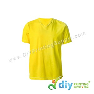 Cotton Tee (V-Neck) (Yellow) (S)