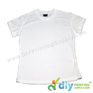 Dryfit Tee (Round Neck) (Female) (Full White) (L) (160Gsm)