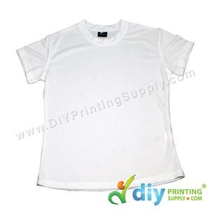 Dryfit Tee (Round Neck) (Female) (Full White) (L) (160Gsm)
