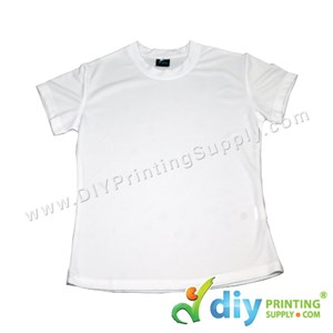 Dryfit Tee (Round Neck) (Female) (Full White) (M) (160Gsm)