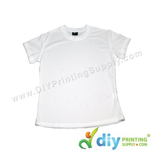 Dryfit Tee (Round Neck) (Female) (Full White) (S) (160Gsm)
