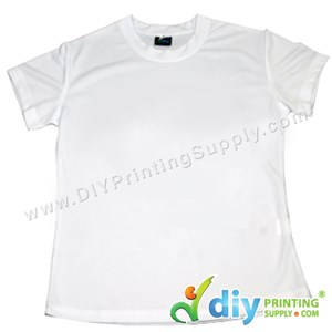 Dryfit Tee (Round Neck) (Female) (Full White) (XL) (160Gsm)