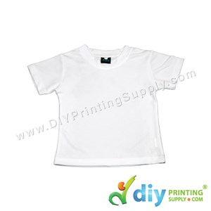 "Dryfit Tee (Round Neck) (Kid) (Full White) (S) (24"") (160Gsm)"