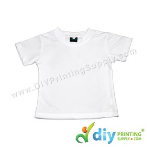 "Dryfit Tee (Round Neck) (Kid) (Full White) (L) (28"") (160Gsm)"