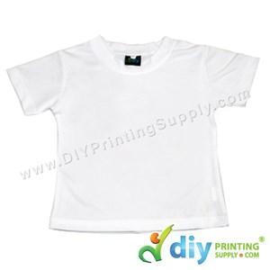 Dryfit Tee (Round Neck) (Kid) (Full White) (M) (26'') (160Gsm)