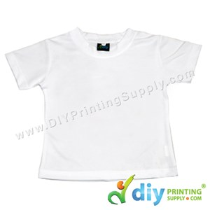 Dryfit Tee (Round Neck) (Kid) (Full White) (M) (26'') (160Gsm)
