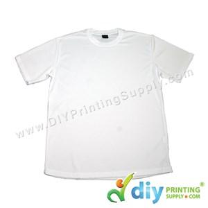 Dryfit Tee (Round Neck) (Unisex) (Full White) (L) (160Gsm)