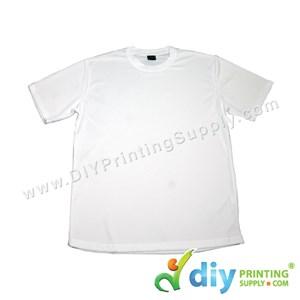 Dryfit Tee (Round Neck) (Unisex) (Full White) (M) (160Gsm)