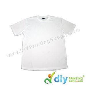 Dryfit Tee (Round Neck) (Unisex) (Full White) (S) (160Gsm)
