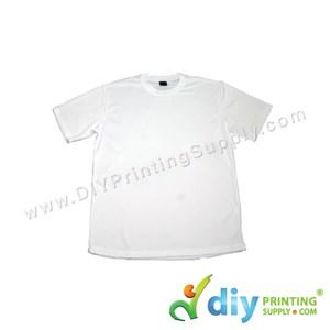 Dryfit Tee (Round Neck) (Unisex) (Full White) (XS) (160Gsm)