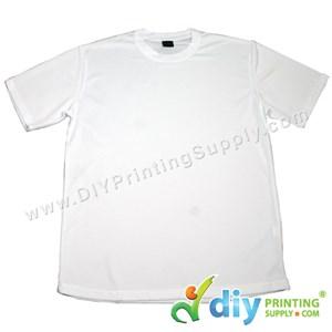 Dryfit Tee (Round Neck) (Unisex) (Full White) (XXL) (160Gsm)