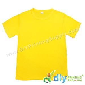 Dryfit Tee (Round Neck) (Unisex) (Full Yellow) (XXL) (160Gsm)