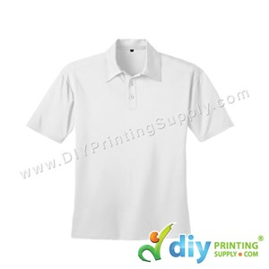 Dryfit Tee (Collar) (White) (L) (160Gsm)