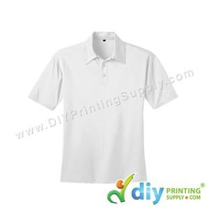 Dryfit Tee (Collar) (White) (M) (160Gsm)