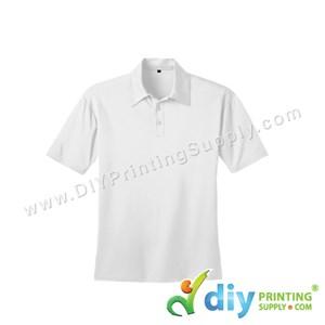 Dryfit Tee (Collar) (White) (S) (160Gsm)