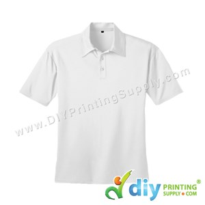 Dryfit Tee (Collar) (White) (XL) (160Gsm)