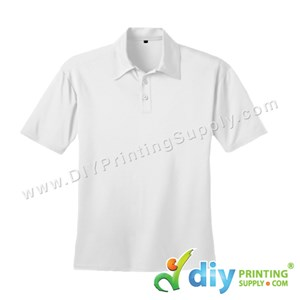 Dryfit Tee (Collar) (White) (XXL) (160Gsm)