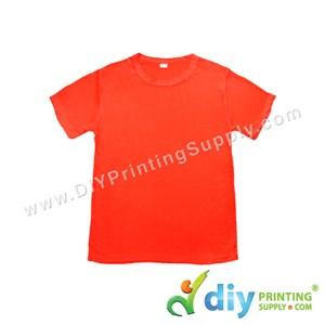 Dryfit Tee (Round Neck) (Unisex) (Full Red) (XS) (160Gsm)
