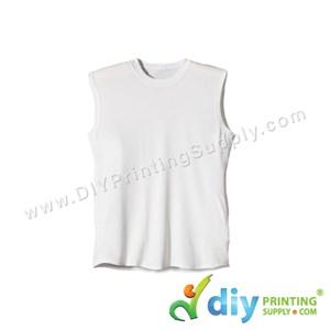 Dryfit Tee (Sleeveless) (White) (XS) (160Gsm)