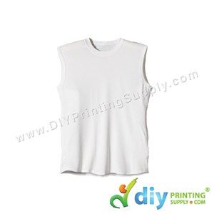 Dryfit Tee (Sleeveless) (White) (XS) (160Gsm)