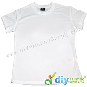 Dryfit Tee (Round Neck) (Female) (Full White) (XXL) (160Gsm)