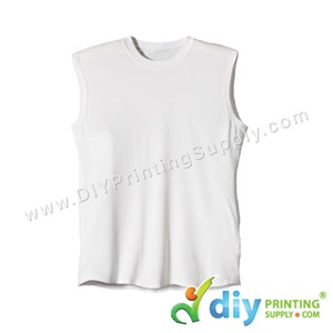 Dryfit Tee (Sleeveless) (White) (L) (160Gsm)